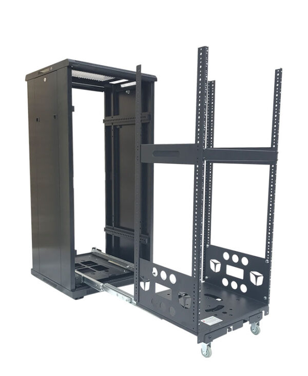 Pull Out Floor Standing AV Racks
