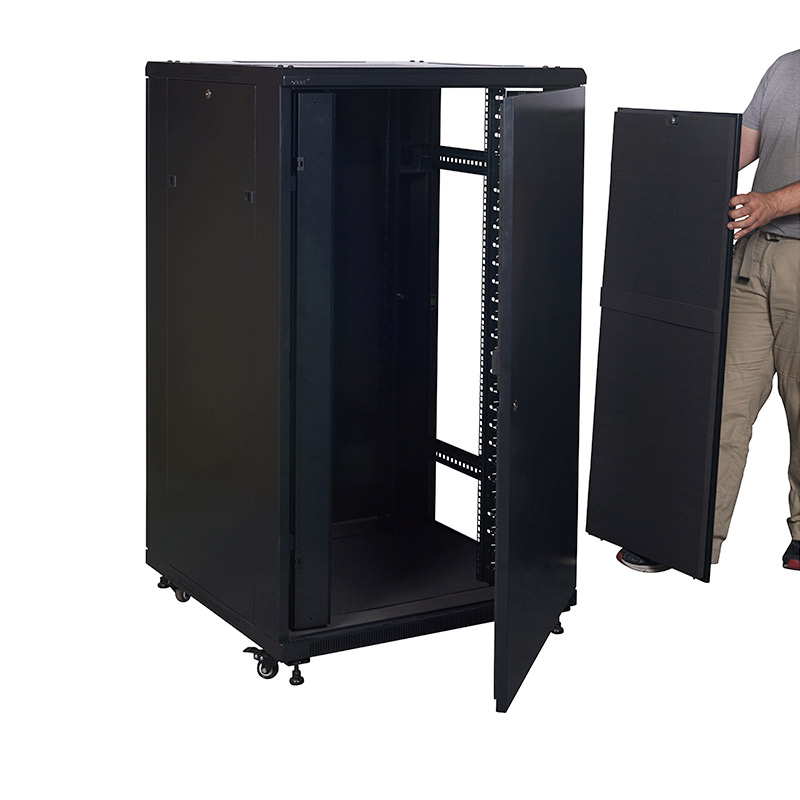 Acoustic Server Cabinet with the side panel removed