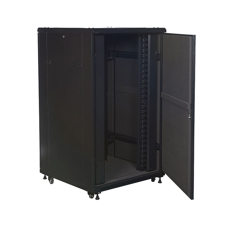 Acoustic Data Cabinet 600mm wide with the Front Door Opened