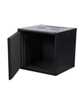 acoustic wall mounted cabinet with the door opened