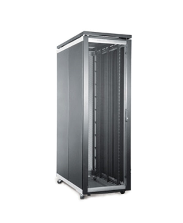 Prism FI Server Cabinet 600mm Wide with the door closed.