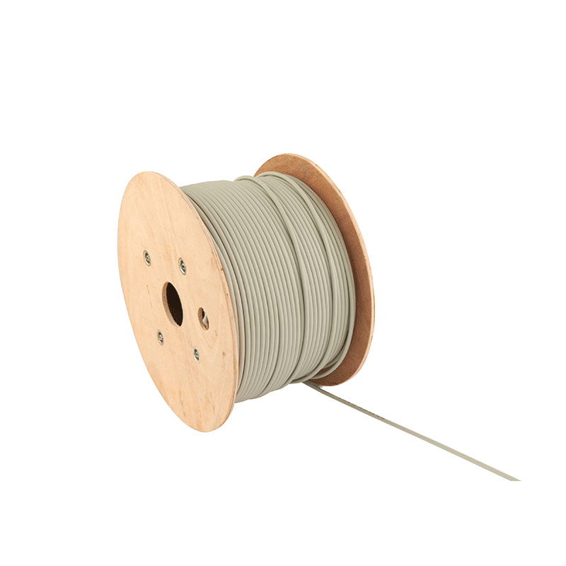 A drum of Cat 5e Shielded Cable on the floor