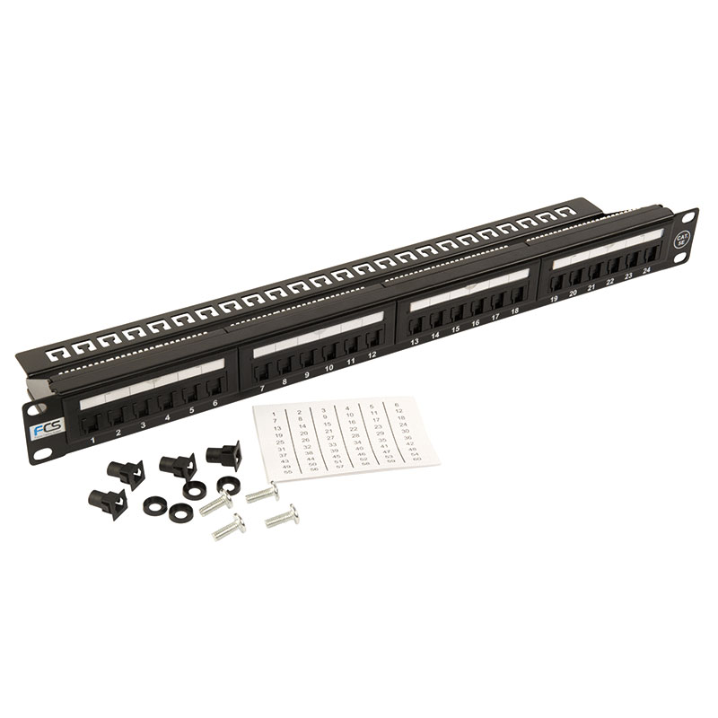 24 way cat 5e patch panel